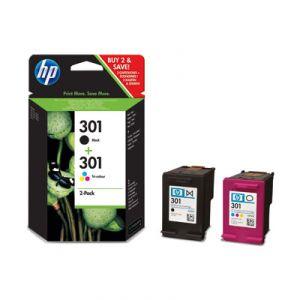 HP 301 Pack de 2 cartuchos tricolor CMY