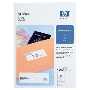 HP Labels 105 x 37 mm-A4/210 x 297 mm/100 sht