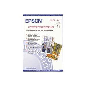 Epson Papel acuarela blanco, DIN A3+, 190 g/m², 20 hojas
