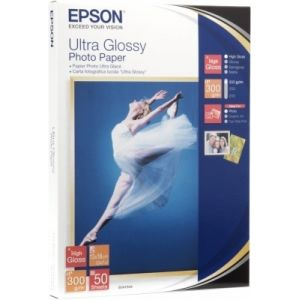 Epson Ultra Glossy Photo Paper, 100 x 150 mm, 300 g/m², 50 hojas
