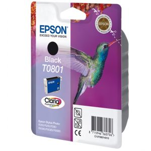 Epson Singlepack Black T0801 Claria Photographic Ink