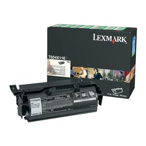 Lexmark T654 Extra High Yield Return Program Print Cartridge T654 Cartucho de impresión Extra Alto Rendimiento Retornable