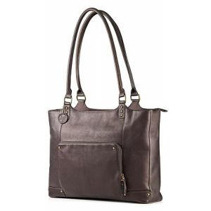 "HP 15"" Ladies Brown Leather Tote"