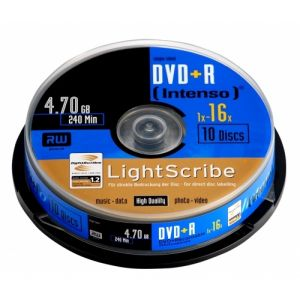 Intenso DVD+R 4.7GB, LS, 16x