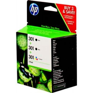 HP 301 Pack ahorro 3 cartuchos. 2 negro 1 color E5Y87EE