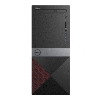 PC Dell Vostro 3670 - Core i3 8100 / 3.6 GHz RAM 4 GB, HDD 1 TB, DVD, UHD, WLAN, Win 10 Pro 64 bits monitor: ninguno