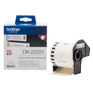 Brother Etiqueta DK-22251 - Negro/rojo sobre blanco Rollo (6,2 cm x 15,24 m) 1 bobina(s) papel continuo