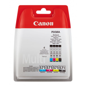 CANON PAck 4 Tintas  CLI-571 PACK (C/M/Y/BK)