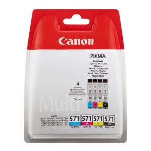 Canon Multipack 4 Tintas BK/C/M/Y CLI-571 - 386C004