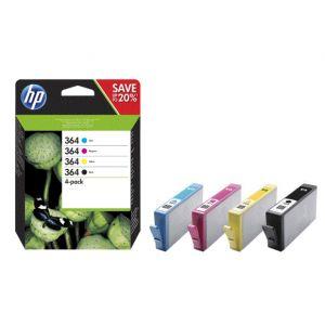 HP HP Pack 4 Cartuchos Tinta BK/C/M/Y 364 - N9J73AE - 850 páginas