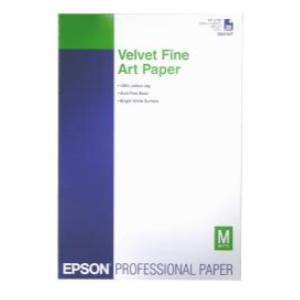 Epson Velvet Fine Art Paper, A3+, 260 g/m², 20 hojas Velvet Fine Art Paper, A3+, 260g/m², 20 Blatt