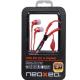 NeoXeo Auricular con Micro + Adaptador PC Color Rojo