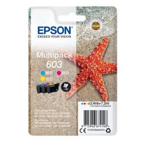 EPSON Pack 3 Tintas (C/M/Y) 603 - C13T03U54010 - 130 páginas