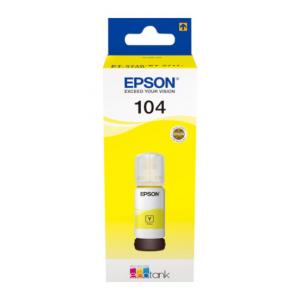 EPSON Tinta Amarilla ECOTANK 104 - C13T00P440 - 70 ml