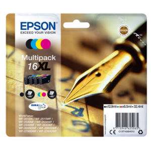 Epson PAck 4 Tintas BK/C/M/Y 16XL - C13T16364012 - 500/450 páginas Negro/Color
