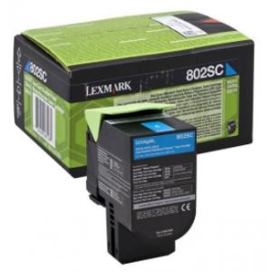 Lexmark Tóner Cián 802SCE - 80C2SCE - 2.000 páginas